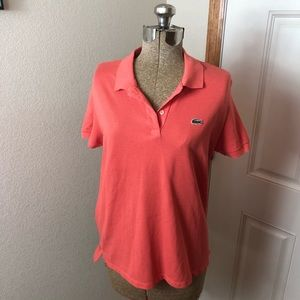 Lacoste Coral Pink Polo T Shirt